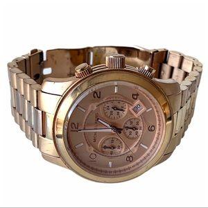 Michael Kors MK8096 Rose Gold Chronograph Watch